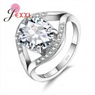 JEXXI Elegant 925 Sterling Silver Wedding Ring For Woman Fashion Band Jewel