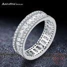 ANFASNI Elegant 925 Sterling Silver Rings CZ Finger Ring for Women Fashion