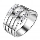 New Fashion Jewelry Women Ring Silver Wedding Jewelry Rings-in Rings from J