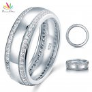 Peacock Star Round Cut Men's Wedding Band Solid 925 Sterling Silver Ring Je