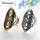New Hot Bohemian Vintage Antique Gold Silver Color Ring Ethnic Carving Flow