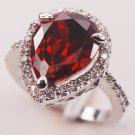 Garnet Fashion 925 Sterling Silver Woman Ring Size 6 7 8 9 10 F603 Fashion