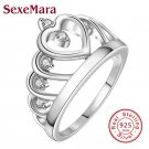 Heart shape 925 Sterling Silver jewelry Ring AAAA Level CZ wedding band Eng