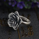 GZ 925 Sterling Silver Ring Flower anillos Round S925 Thai Silver Rings for