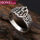 2017 New Vajra Simple Rotating Ring Coins 100% 925 sterling silver 925 Ring