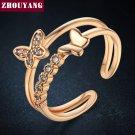 NEWBARK Classic 0.5 Carat Engagement Ring Forever Rose&White Gold Color Ane