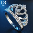 ORSA JEWELS Luxury Rose Gold Color Zircon Rings Paved Colorful AAA Austrian