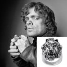 Game of Thrones Stark Lannister Wolf Lion Family Badge Rings Antique Silver