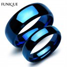 FUNIQUE Lovers Rings Jewelry 1PC 316 Stainless Steel Wedding Band Rings Can