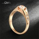 Cubic Zirconia Wedding RingRose Gold/Silver Tone CZ Stone Engagement Rings