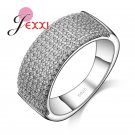 JEXXI New Arrival Trendy Round Style Women 925 Sterling Silver Rings Jewelr