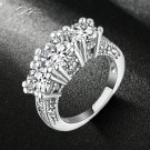 Silver Color AAA Cubic Zirconia Bijoux Fashion Wedding & Engagement Ring Je