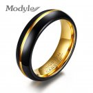 Modyle 2017 New Fashion Black and Gold Color Tungsten Wedding Ring for Men