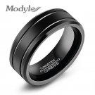 Modyle Fashion Black Tungsten Ring For Men Tungsten Wedding Ring Jewelry Fa