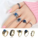 Knock Fashion New 5 pcs/Set Multicolor  Stone Midi Ring Sets for Women Boho