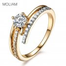 MOLIAM Hot Fashion Rings for Women Gold Color High Quality Cubic Zirconia W