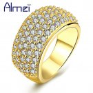 Almei Rose Gold Color Big Rings Women Fashion Anel Wide Punk Ring Jewelry W
