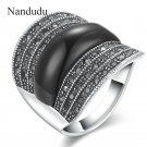 Nandudu New Arrival Marcasite Austrian Crystal Rings Vintage Style Fashion