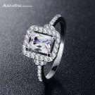 ANFASNI New Arrival Delicate Rings Silver Color  AAA Cubic Zirconia Elegant