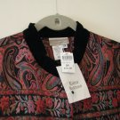 Coldwater Creek Paisley Brights 2X Jacket