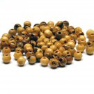 100 Pcs Olive Wood Round Beads Polished Hand Made Holy Land Bethlehem