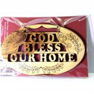 Olive Wood God Bless Our Home Plaque Wall Hanging Hand Made Holy Land