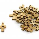 50 Pcs Olive Wood Cross Pendants Charms Heart Engraved Holy Land Jerusalem