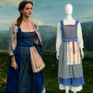 Custom Made 2017 Beauty And The Beast Princess Belle Dress Belle Maid Costume Cosplay