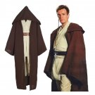 Customized Men's Outfit Star Wars Anakin Skywalker Cosplay Costume Brown Tunic Robe Cloak Cosplay