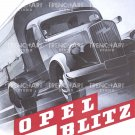 Opel Blitz Poster Print ww2 wehrmacht vintage Art Deco german wall art decor Car