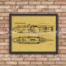 Ictineo submarine framed patent print poster NAVY wood wall art vintage retro