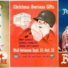 "Set 3 pcs Poster WW2 Print 11.7"" x 16.5"" Santa Claus Christmas Xmas Gift US ARMY"