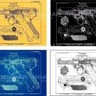 Luger Pistol P 08 Set Patent Print Poster vintage parabellum wehrmacht Art WW2