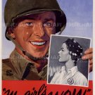 My Girl Poster WW2 WWII US Army Propaganda Vintage wall art print big size gift