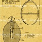 Model 39 Hand Grenade WW2 Poster wehrmacht german military decor wall art gift