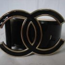Chanel CC LOGO Belt 081 Black patent (85cm)