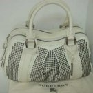 Burberry Nella Knight Satchel - Ivoire (with gunmetal hardware)