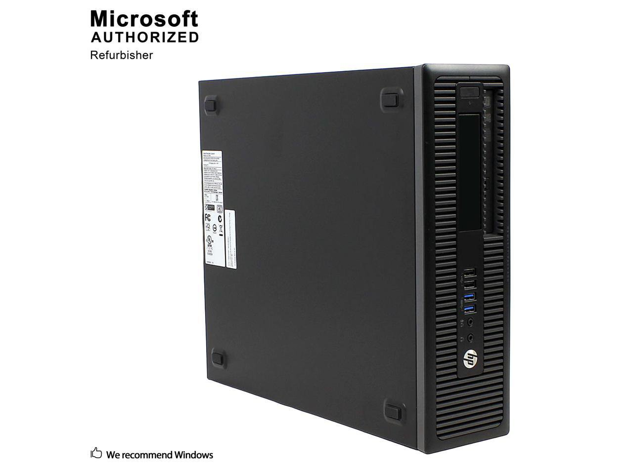HP PRODESK 400 G1, SFF, I5 4570, 16.0 GB, SSD 480GB, DVD/RW, Windows 10 Home, Keyboard & Mouse