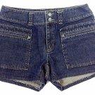 "IZOD Womens Sz 8 Short Dark Wash Blue Denim Mini/ Short Shorts - 3.5"" Inseam"