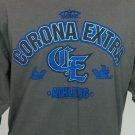 CORONA EXTRA ATHLETIC Men's Long Sleeve Gray T Shirt Sz L Orange County Choppers