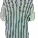 J. Ferrar Men's Polo Shirt XL Short Sleeve Ribbed Striped Gray Cotton