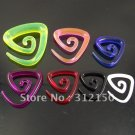 120pcs Free Shipping wholesale colorful Big  Piercing Tools Acrylic triangl