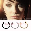 1 Pieces Gold Silver Black Surgical Steel Titanium  Fake Nose Ring Fake sep