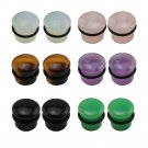 5 18mm Natural Stone Ear Plug Piercing Flesh Ear Stretchers Plugs and Tunne