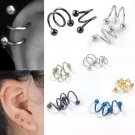 5 Color 2 Size to Choose Stainless Steel Ball Stud Ear Piercing Women Fashi