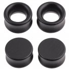 2PCS Natural Wood Ear Plugs Tunnels Hollow Plugs Double Flared Piericngs Ea