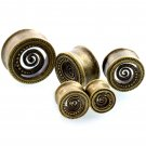 2PCS Brass Ear Plugs 8 22mm Plugs and Tunnels Tunnels Piercings Earring Gau