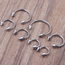 Surgical Steel Horseshoe Bar   Lip Nose Septum Ear Ring Various Sizes WITH