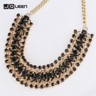 Hot Sale Chokers Necklaces For Women Antique Crystal Golden Chain Collar Ne