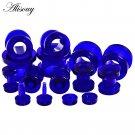 Alisouy 1 pair Beauty Blue Acrylic Ear Expander Plug & Tunnels Jewery Ear G